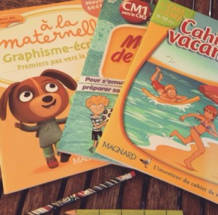 cahiers de vacances